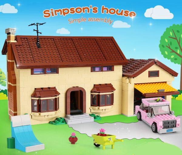 simpsons blocks house