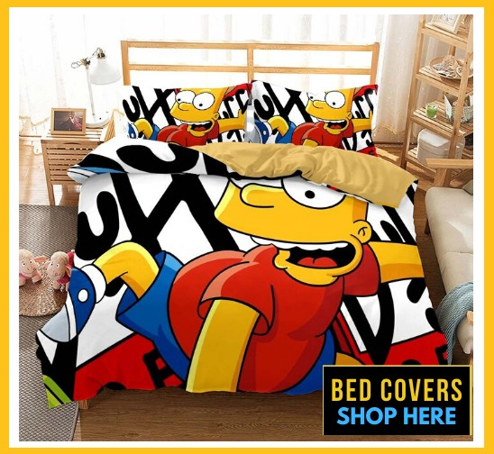 simpsons bed cover