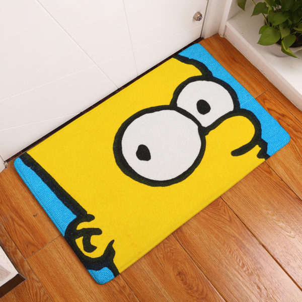 simpsons floor mat